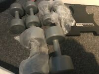 Pro fitness dumbbell set with stand