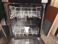 usded appliances intergrated dishwasher 600x600 oven electric hob touch operated black electric £80