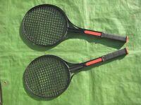 Two Black Plastic Toy Rackets for Play with Toy Shuttle or Light Ball for £2.00
