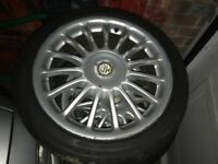 Mg Zr ZS 17 inch multi spoke alloys with tyres