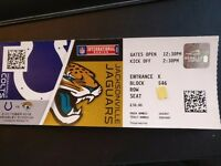 6 (or 4 or 2) tickets to Jacksonville Jaguars Vs Inianapolis Colts Wembley - 2 October £60 each