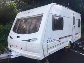 Lunar clubman caravan with motor mover