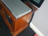 Antique pine TV video bookcase