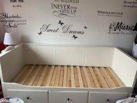 IKEA Day-bed frame with 3 drawers