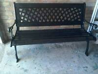 NEW BLACK GARDEN SEAT