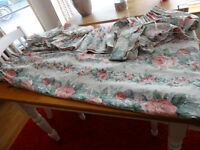 2 PAIRS/SETS OF MARKS AND SPENCERS CURTAINS 54CM DROP X 66CM WIDE