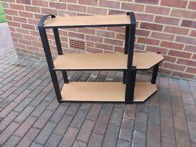 Shelf Unit with Black trim - Book Case -Retro