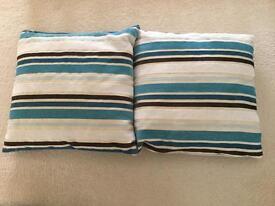 Teal/brown/cream Cushions