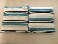 Teal/brown/cream Cushions