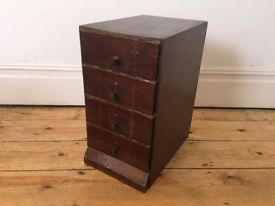 Antique Vintage Small Filing Cabinet Storage Paper Tidy J C King London