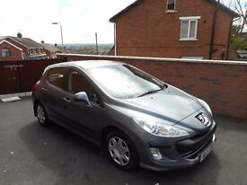 2008 peugeot 308 16 hdi{30 pounds tax,full peugeot history,just serviced,finance,warranty ava}