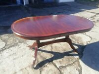 Dark wood dining table (no chairs)