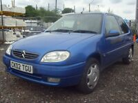 2002 02 CITROEN SAXO 1.1 I DESIRE 3DR - *FSH*- TIMINGBELT CHANGED - IDEAL FIRST CAR - PX TO CLEAR