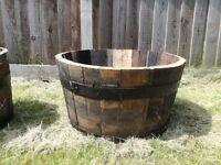 Whisky Barrel Planter Set