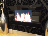 FOCAL POINT EVOKE REMOTE CONTROL LCD WALL MOUNTED ELECTRIC FIRE GLOSS LACK