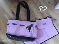 Baby pink changing bag