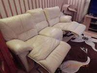 FREE THREE seater TWO recliner very comfy sofa cream colour