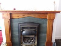 Gas fire and surround for sale