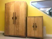 Art Deco Wardrobe and Chest Unit