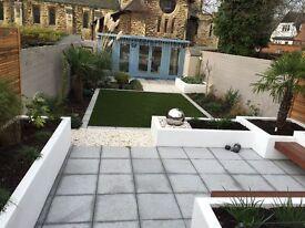 Garden design and landscaping .