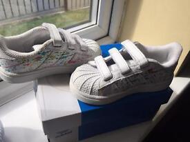 Adidas superstars customised