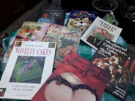 8 Novelty Cake, Quiche & Pudding Books