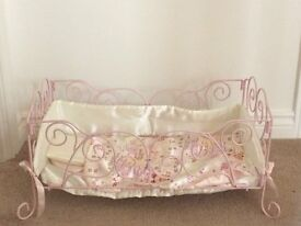 Baby Annabell Cot with Bumper & Mattress