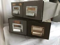 Metal index card cabinets