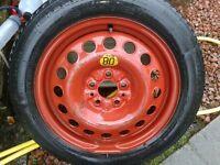 Alfa Romeo 16 inch Space Saver Spare wheel - unused with Michelin tyre