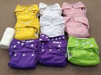Little Lambs washable nappies X 9