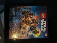 Lego Star Wars book with mini figure