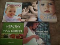 PREGNANCY MUM TO BE BIRTH BABY AND CHILD WEANING 7 BOOKS