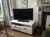 IKEA TV Stand with two Drawers on castor wheels