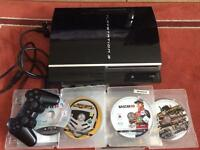 PS3 inc controller + 4 games (PLAYS PS1&PS2 Games )