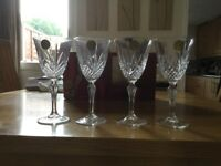 Lead Crystal cut Wine Glasses