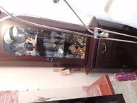Beautiful side display cabinet- leaded glass
