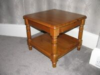 3 Ducal pine lamp tables.