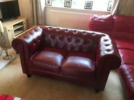 Faux Leather Chesterfield Style Sofa