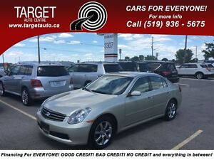 2005 Infiniti G35X NO ACCIDENTS ONE OWNER AWD/FULLY LOADED