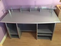 Large Silver Desk