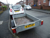 This light trailer measures 6ft7in*4ft and would be ideal for camping or work use