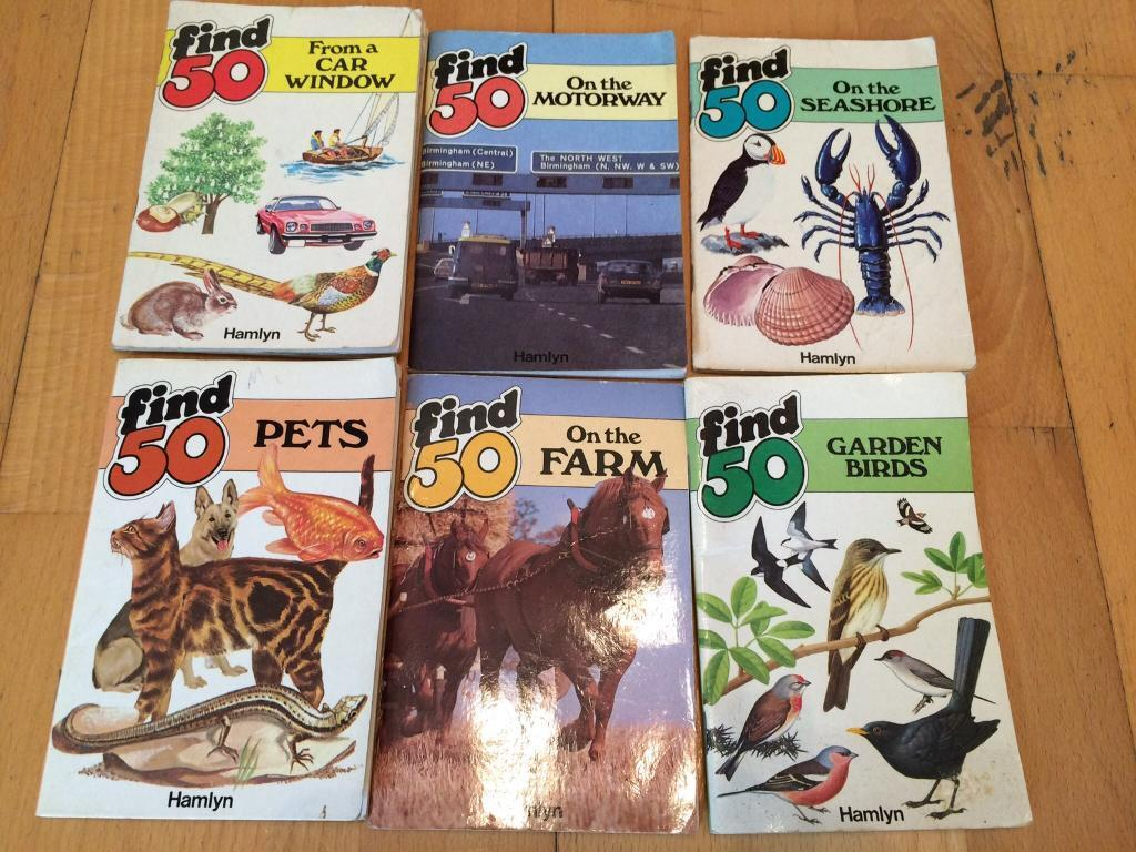 6 find 50 books and 1 I-spy book