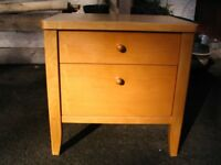 Drawer, modern birch bedside cabinet, bedside table with 2 drawers for bedroom, chest of drawers.