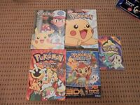 Pokemon Books x 5 in good condition