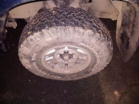Bf goodrich all terrain tyres 31 12.50 15 with toyota alloy wheels