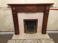 HANDMADE FIRE PLACE SURROUND SOLID WOOD MAYBE OAK