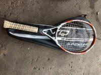 Good Quality Dunlop Tennis Racket with holder bag