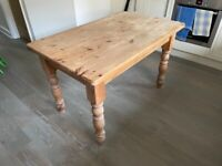 Classic pine kitchen dining table