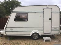 Small lightweight compass caravan with full awning and all extras. Can deliver.