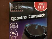 HERCULES DJ CONTROL COMPACT USB CONTROLLER